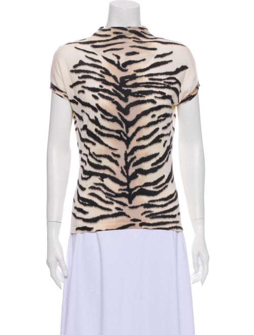 Celine Cashmere Animal Print Sweater