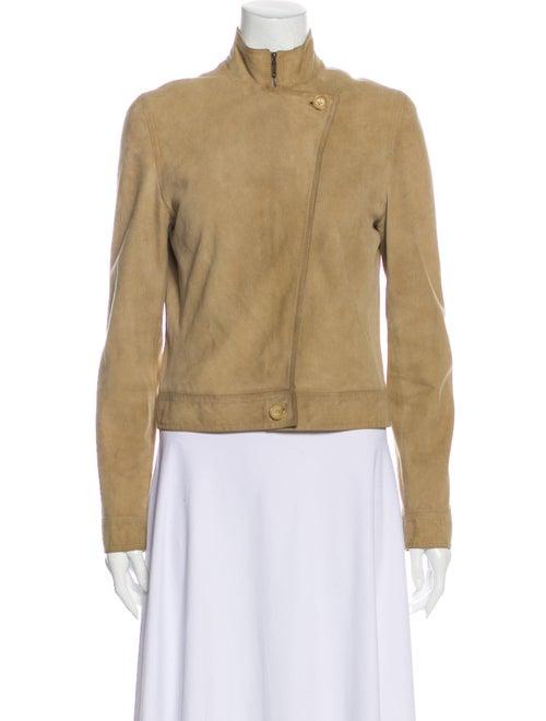 Celine Vintage Lamb Leather Biker Jacket Brown