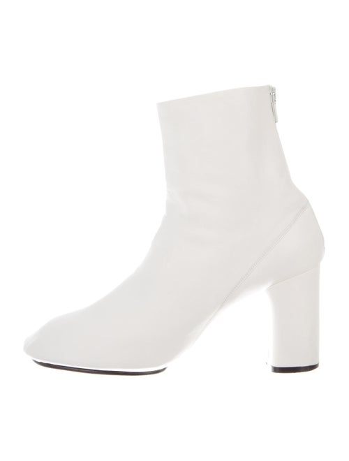 Celine Leather Ankle Boots White