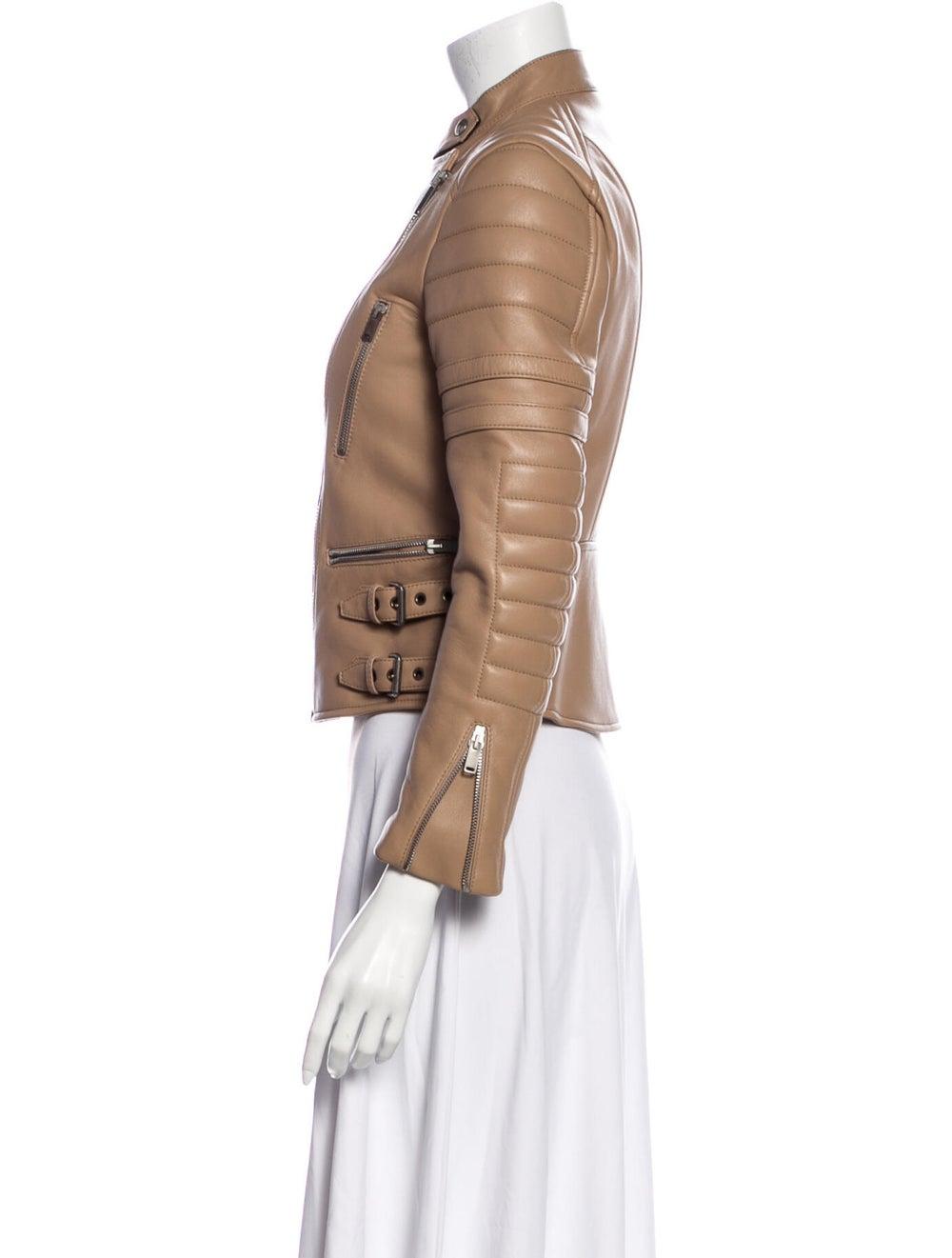Celine Leather Biker Jacket - image 2
