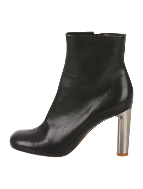 Celine Leather Ankle Boots Black