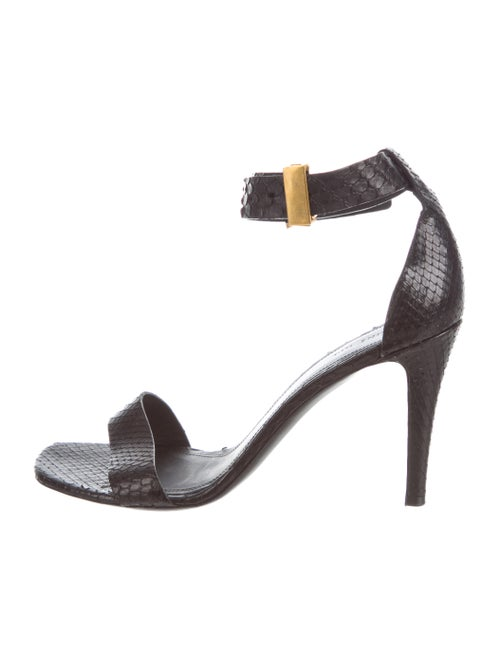 Celine Snakeskin Sandals Black