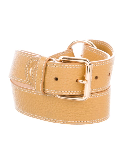 Celine Vintage Leather Belt gold