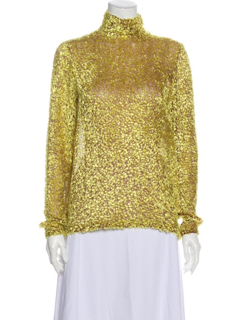 Celine Turtleneck Long Sleeve Blouse Yellow