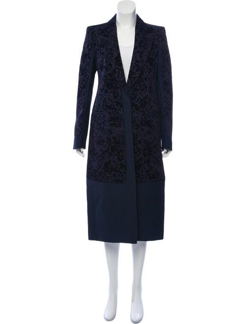 Celine Jacquard Long Coat