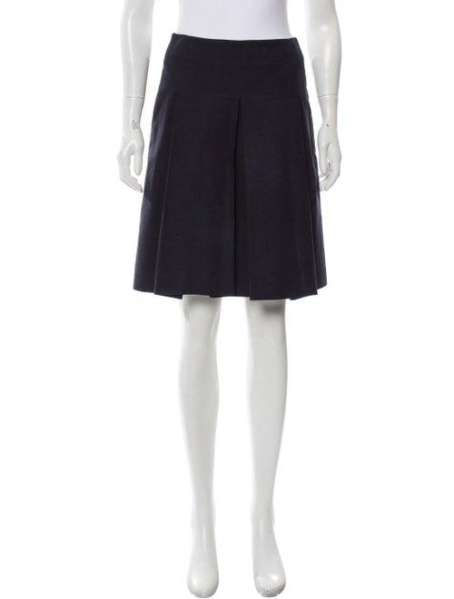 Celine Pleated A-Line Skirt Navy