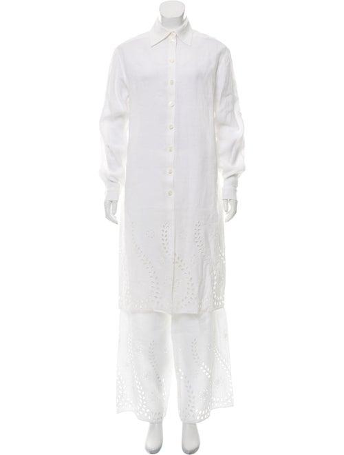 Celine Embroidered Pant Set White
