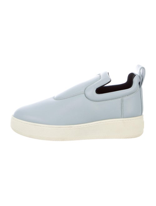 Celine Leather Sneakers Blue - image 1