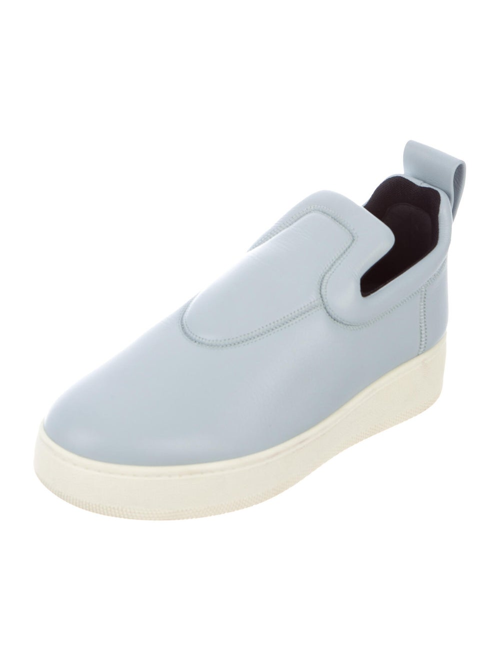 Celine Leather Sneakers Blue - image 2