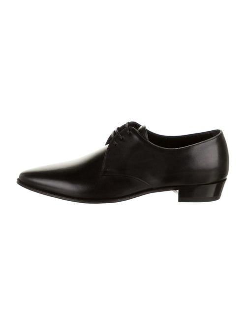 Celine Leather Derby Shoes black