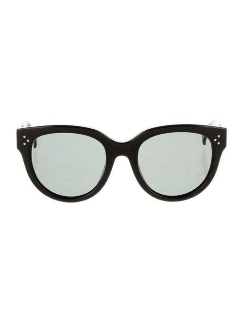 Celine Tinted Round Sunglasses Black