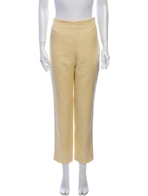 Celine Straight Leg Pants Yellow
