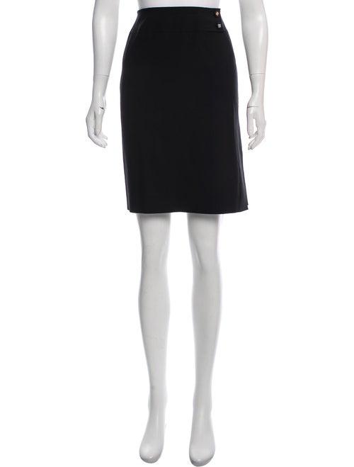 Celine Wool Pencil Skirt Black