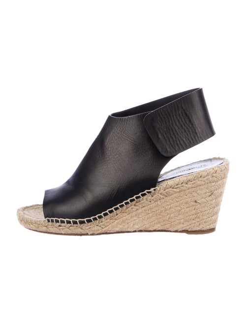 Celine Leather Espadrilles Black