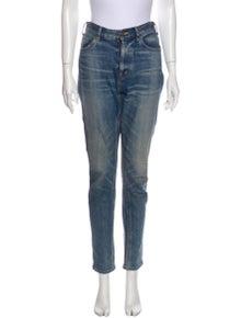 Celine High-Rise Straight Leg Jeans