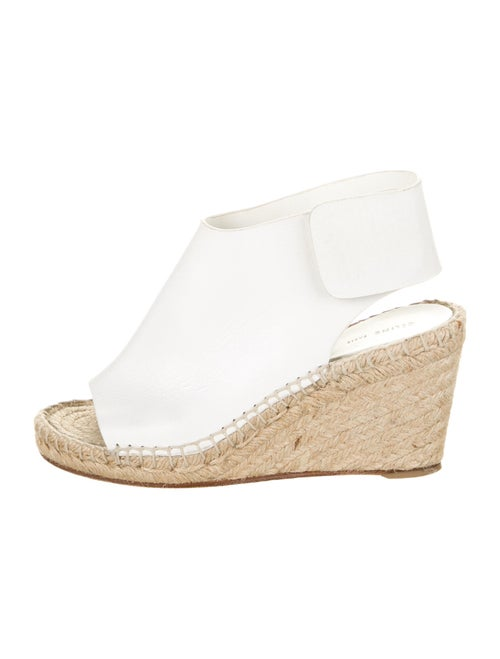 Celine Leather Espadrilles White