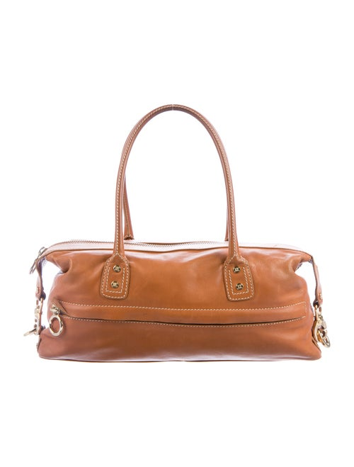Celine Leather Shoulder Bag Tan