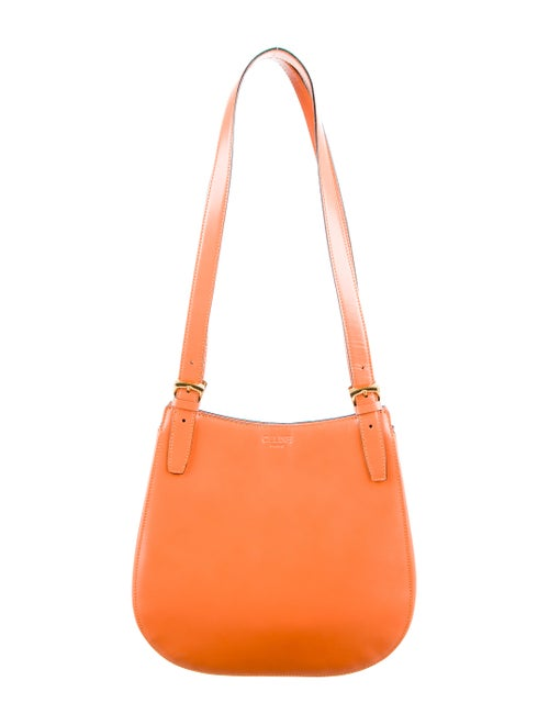 Celine Vintage Leather Shoulder Bag Orange