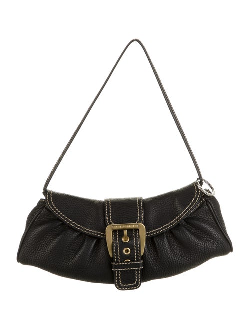 Celine Leather Shoulder Bag Black