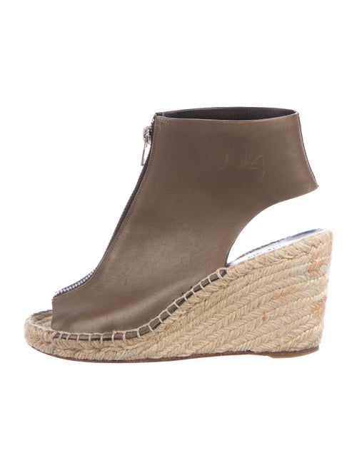 Celine Leather Espadrilles Brown