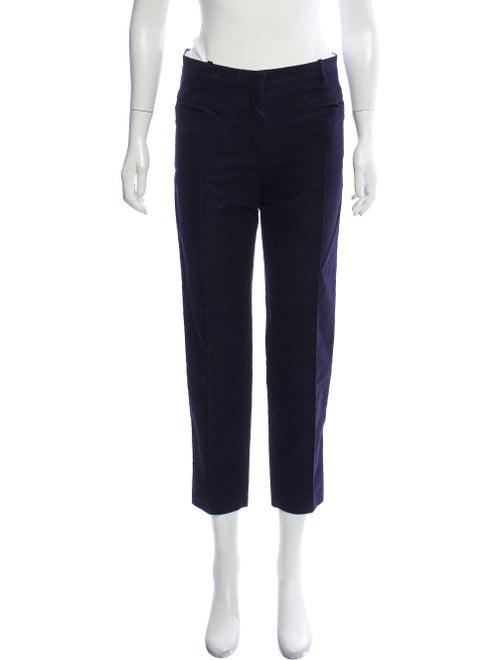 Celine Pleated Straight-Leg Pants Navy