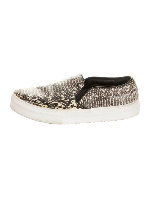 Celine Snakeskin Animal Print Sneakers