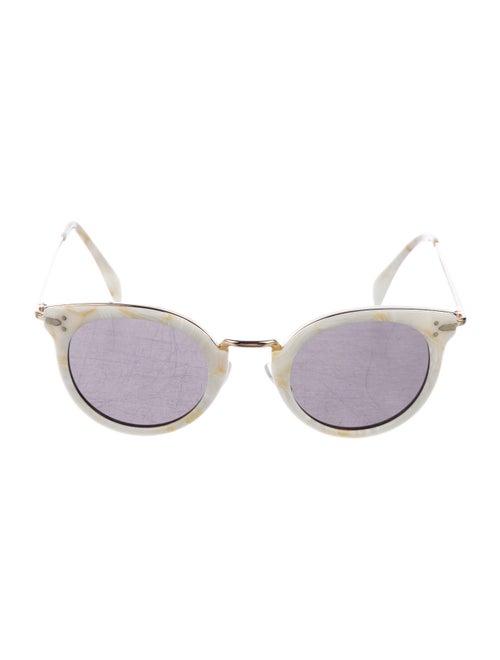 Celine Tinted Round Sunglasses White