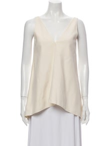 Celine Silk V-Neck Blouse