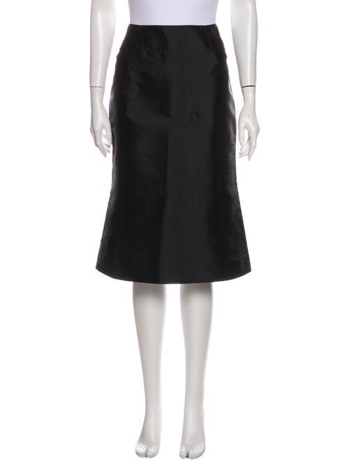 Celine Silk Midi Length Skirt Blue