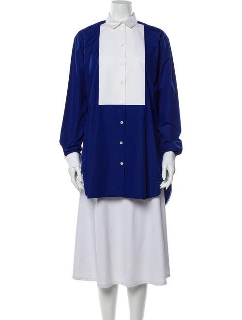 Celine Long Sleeve Tunic Blue