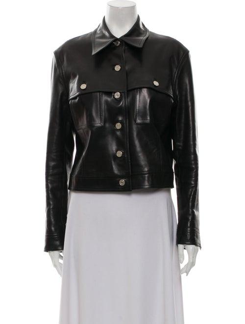 Celine Leather Utility Jacket Black