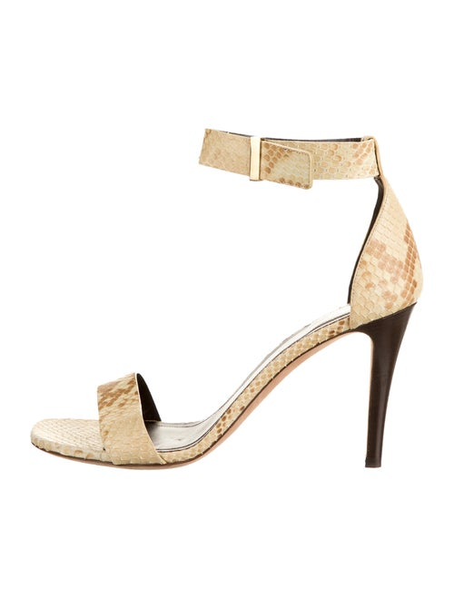 Celine Snakeskin Animal Print Sandals