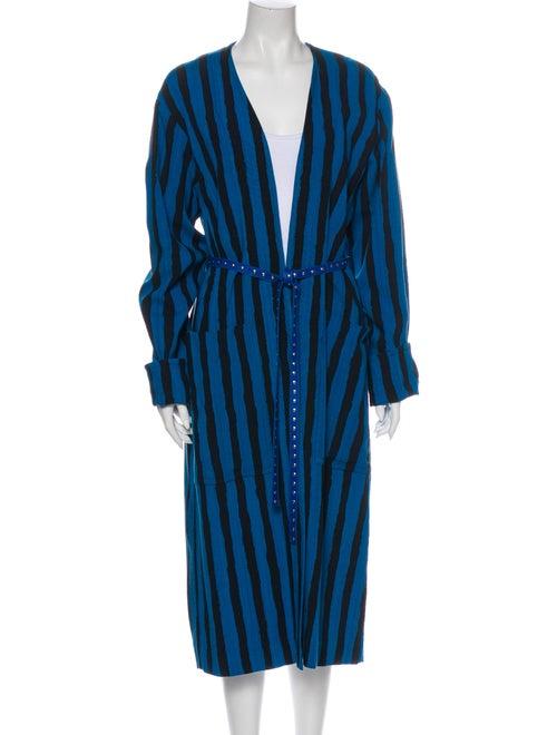 Celine Striped Coat Blue