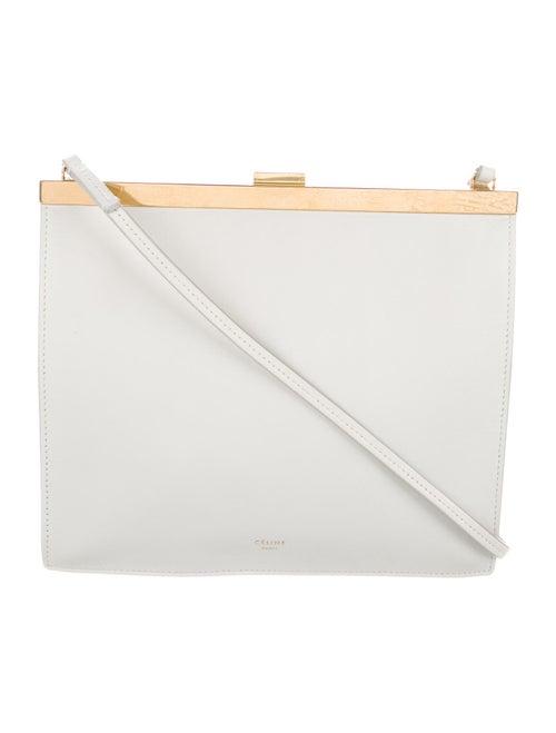 Celine Mini Clasp Bag White