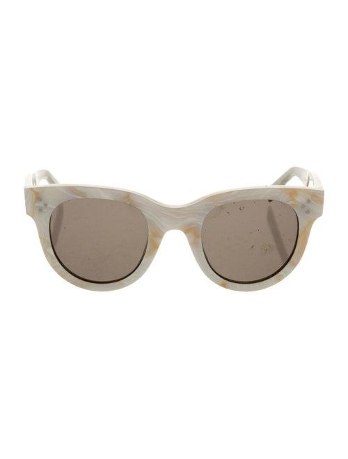 Celine Tinted Cat-Eye Sunglasses White