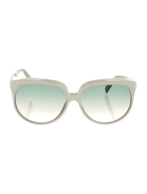 Celine Gradient Cat-Eye Sunglasses White