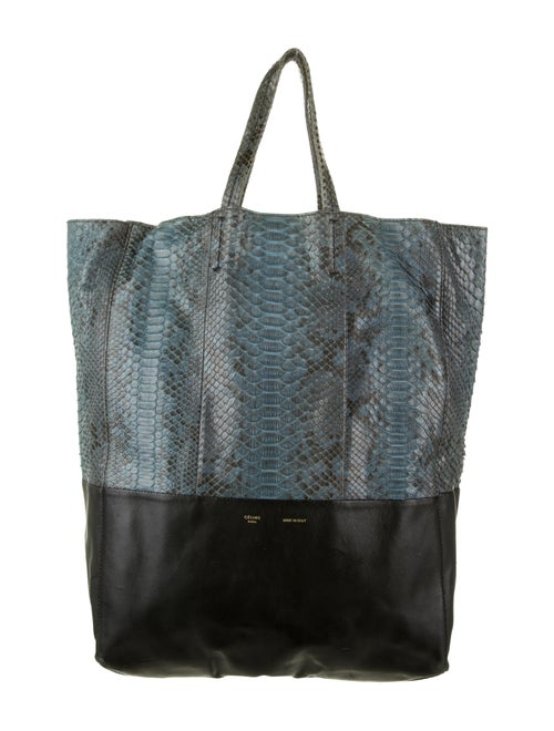 Celine Python Vertical Cabas Tote Turquoise