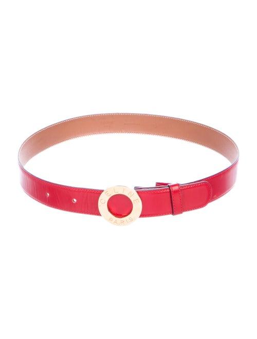 Celine Vintage Leather Belt Red