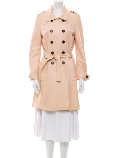 Celine Lamb Leather Trench Coat