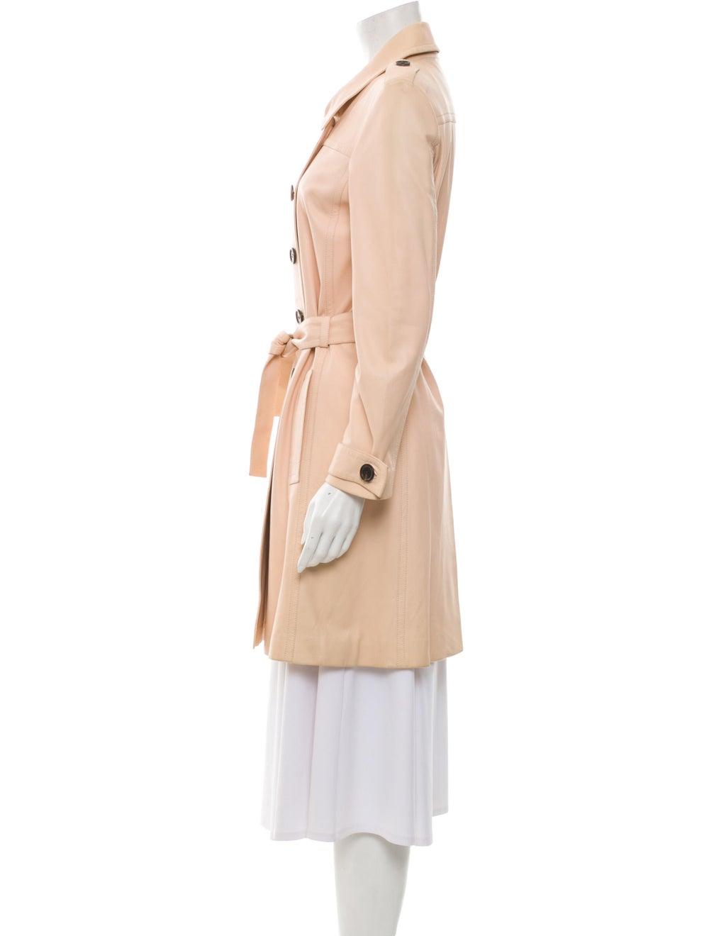 Celine Lamb Leather Trench Coat - image 2