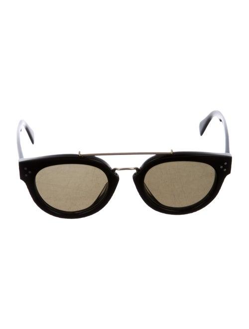 Celine Round Tinted Sunglasses Black