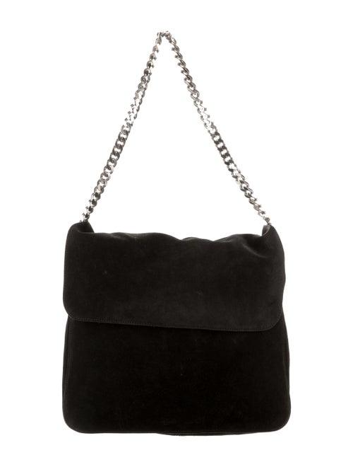 Celine Suede Gourmette Bag Black