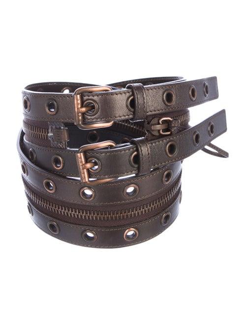 Celine Vintage Leather Belt Brown