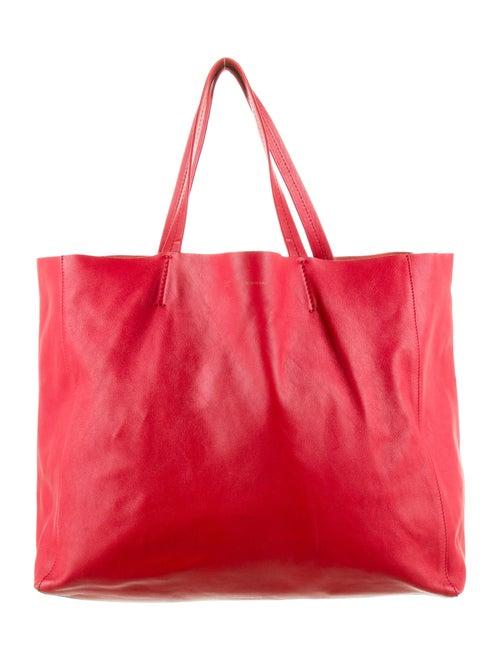 Celine Horizontal Cabas Tote Red