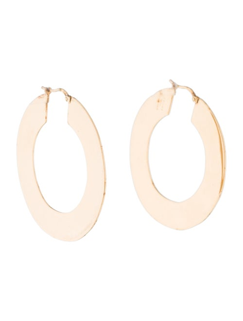 Celine Flat Hoop Earrings Gold - image 1