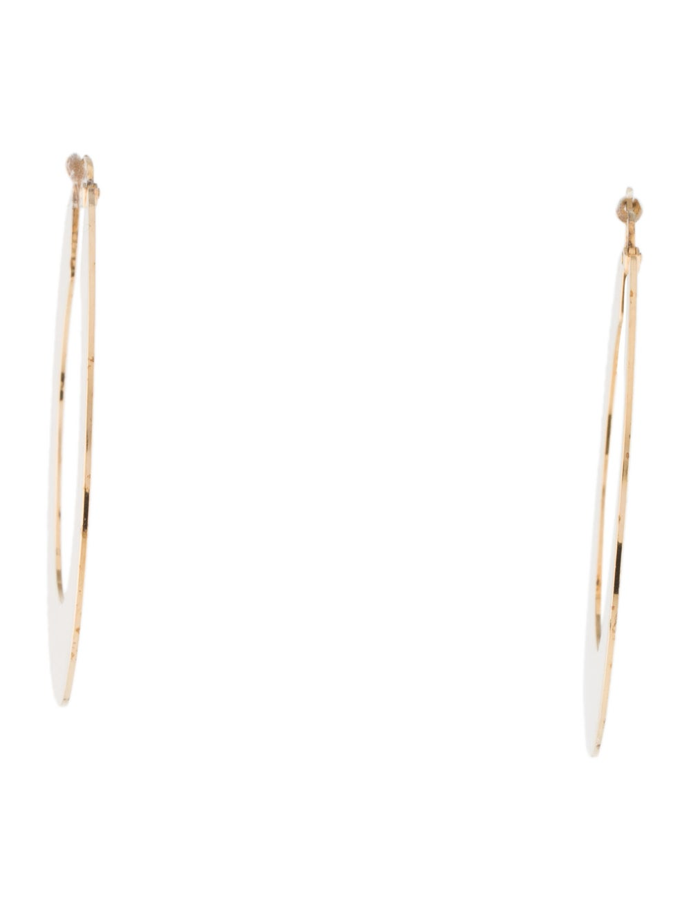 Celine Flat Hoop Earrings Gold - image 3