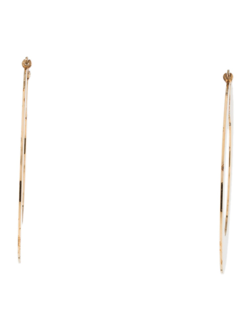 Celine Flat Hoop Earrings Gold - image 4