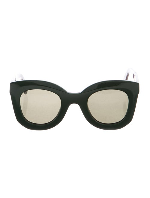 Celine Square Tinted Sunglasses Green