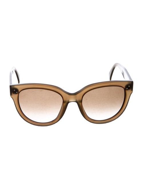 Celine Round Tainted Sunglasses Olive