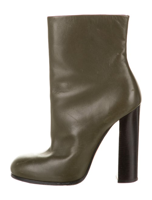 Celine Leather Boots Green